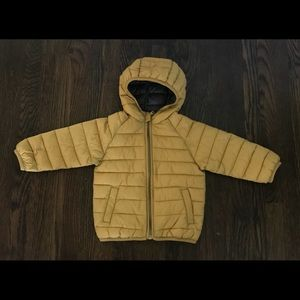 Zara baby boy yellow puffer jacket sz 2/3 yrs.